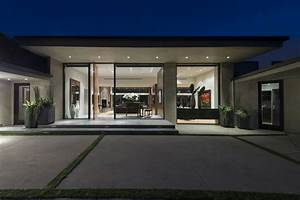 Awesome Black Glass Wood Simple Design Modern Exterior ...