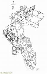 Voltron Drawings Coloring Sketch Larger Credit sketch template