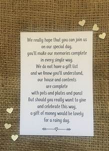 wedding money poem polite way of asking for money rather With wedding invitation inserts asking for money