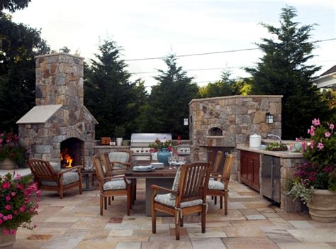 picture wall hanging ideas barbecue fireplace the highlight in the garden