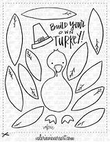 Fall Thanksgiving Printables Turkey Crafts Build Own Coloring Pages Instant Added Activities Printable Craft Preschool Holiday Valeriewienersart Wm Activity Sheets sketch template