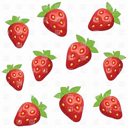 Strawberry Objects Clipart Clip Vector Minnie Silhouette