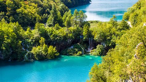 wallpaper plitvice lakes national park waterfall