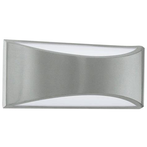 eglo volpino  light brushed nickel integrated led wall