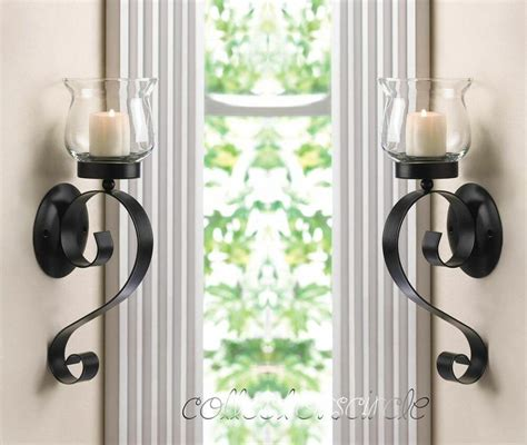 Candle Sconces - set of 2 scrolling candle wall mount sconce ebay