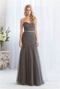 Team wedding blog charming charcoal bridesmaids gowns that for Charcoal dresses for weddings