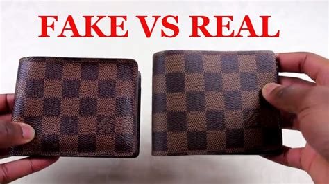 spot  replica louis vuitton wallet real  fake
