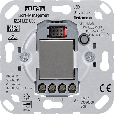 dimmer switch for led ls jung led universal touch dimmer lighting technology