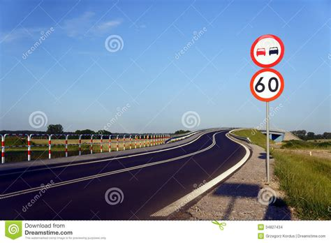 Traffic Signs Along The Road Stock Images  Image 34827434