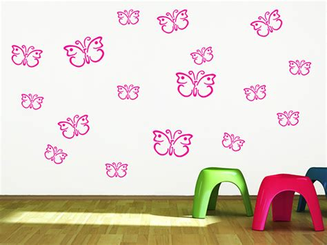 Wandtattoo Kinderzimmer Raupe Nimmersatt by Wandtattoo Schmetterling Set F 252 Rs Kinderzimmer