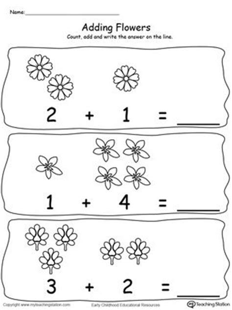 adding numbers  flowers sums   kindergarten