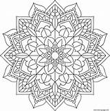 Mandala Coloring Floral Printable sketch template