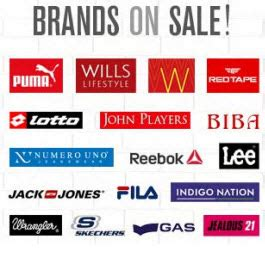 Top Footwear & Clothing Brands Minimum 50% Off From Rs