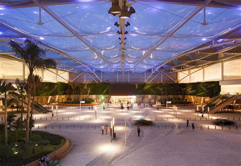 etfe foil cushions shopping complex  hightex stylepark