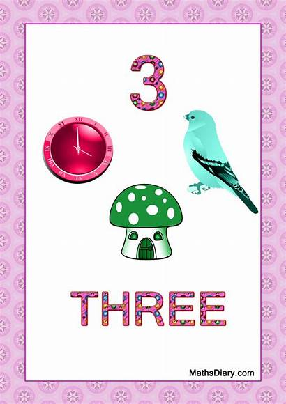 Numbers Counting Worksheets Number Recognition Nursery Objects