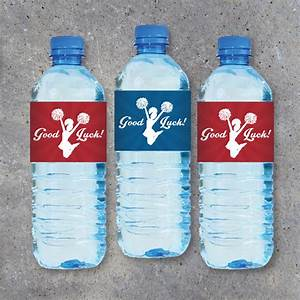 Cheerleading water bottle labels featuring good for Cheerleader water bottle labels