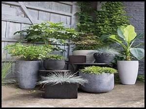 pot deco jardin exterieur best serre de jardin avec pots With chambre bébé design avec grand pot fleur exterieur