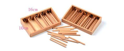 teaching aids spindle box   spindles wooden