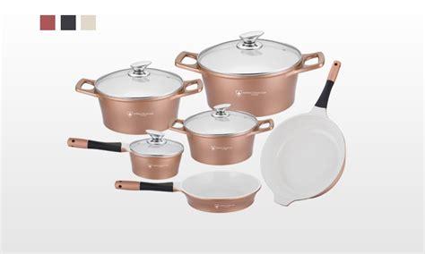 batterie de cuisine ceramique batterie de cuisine en céramique groupon shopping