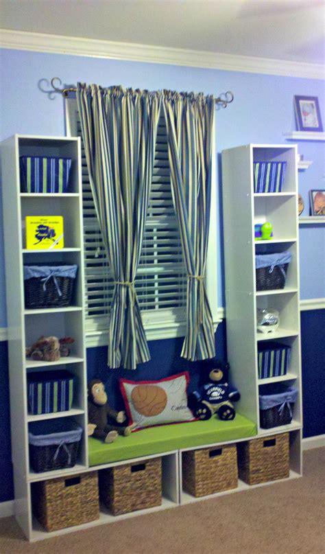 diy storage unit  window seat easy affordable