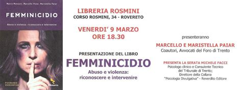 Libreria Rosmini by 09 03 2018 Femminicidio Libreria Rosmini Rovereto