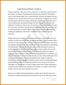 sle statement of purpose for cover letter templates