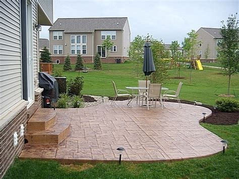 Small Backyard Concrete Patio Designs by Sted Concrete Patio Designs Concrete Patio Ideas
