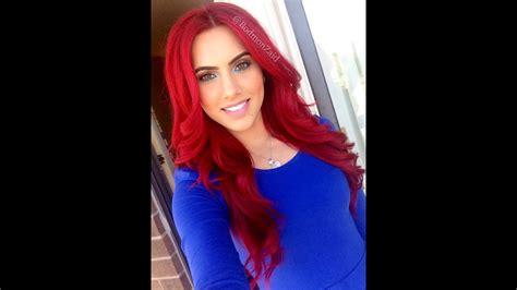 Dye Dark Hair Bright Red Without Bleach!