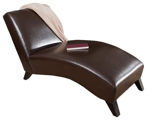 chaise lounge in neutral brown fini
