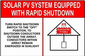 Nec 2017 Revisions  New Pv Labels  Rapid System Shutdown