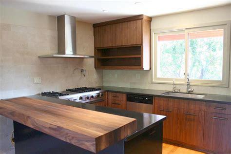 Contemporary Walnut Kitchen Cabinets