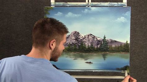 paint  kevin hill peaceful mountain lake youtube