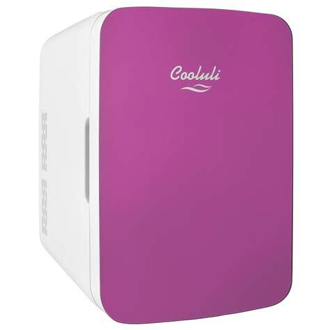 cooluli infinity  cu ft retro mini fridge  pink