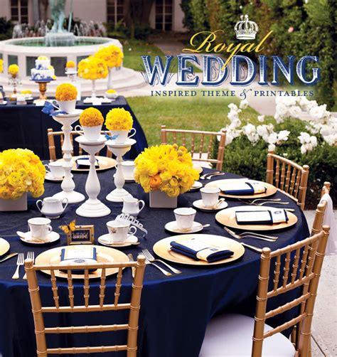 Royal Wedding Bridal Shower  Yellow And Blue Wedding