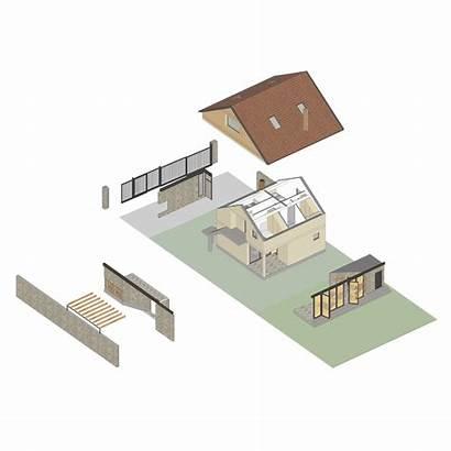Construction Modelart Arhitekti Archdaily Building Axonometric
