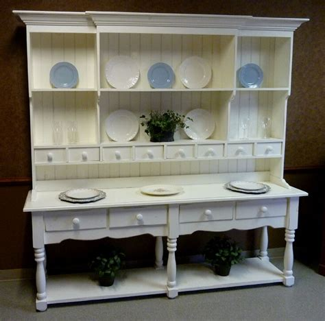 large pine french farmhouse wide hutch beaded board   classic usa  ebay