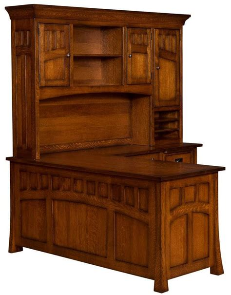 mission canyon  shaped desk  hutch countryside