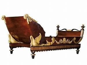 Tete De Lit En Bois Sculpté : lit d 39 apparat en acajou et placage d 39 acajou orn de motifs en bois sculpt et dor europe ~ Dallasstarsshop.com Idées de Décoration