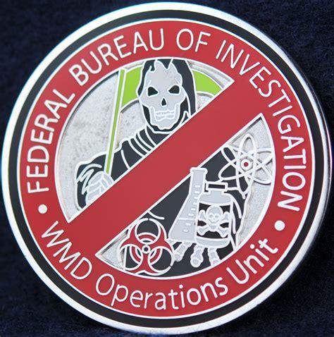 fbi bureau of investigation us fbi wmd operations unit challengecoins ca