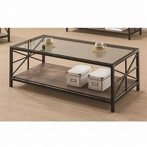 avondale living room coffee table glass top wood shelf With avondale coffee table
