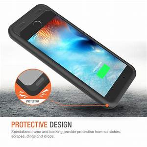 Atomic S Battery Case For Iphone 6 Plus    Iphone 6s Plus 5 5 U2033  U2013  Black    Black
