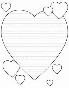 heart shaped writing paper for valentine39s day primary With heart shaped writing template