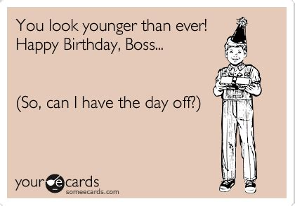 Funny Quotes For Boss Birthday Cards