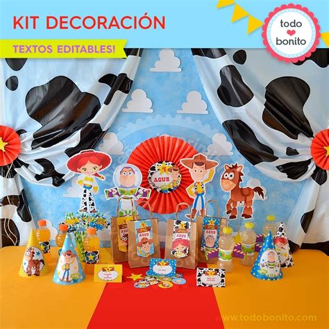 decoracion woody toy story toy story kit imprimible decoraci 243 n de fiesta todo bonito