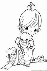 Precious Moments Coloring Drawings Popular Pages sketch template