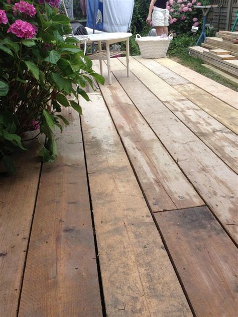 scaffold board decking   garden outdoor garden