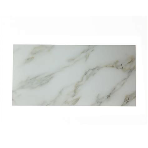 stick on backsplash for kitchen abolos nature 8 in x 16 in calacatta gold glass peel and 8348