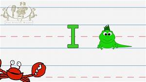 Write the letter I | Alphabet Writing lesson for children ...