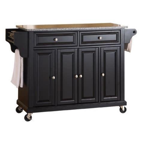 kitchen island granite top rack rolling wheels indoor cart