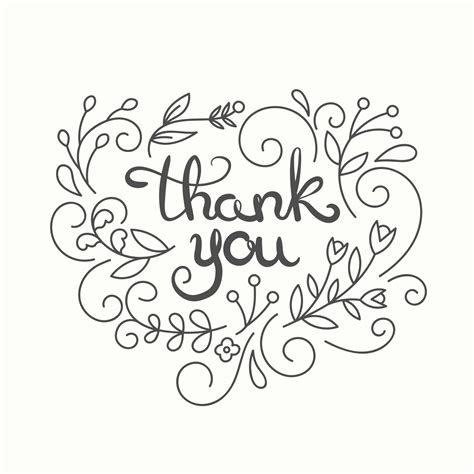 Thank You Card Template Simple Swirls Free Thank You Card Template Greetings